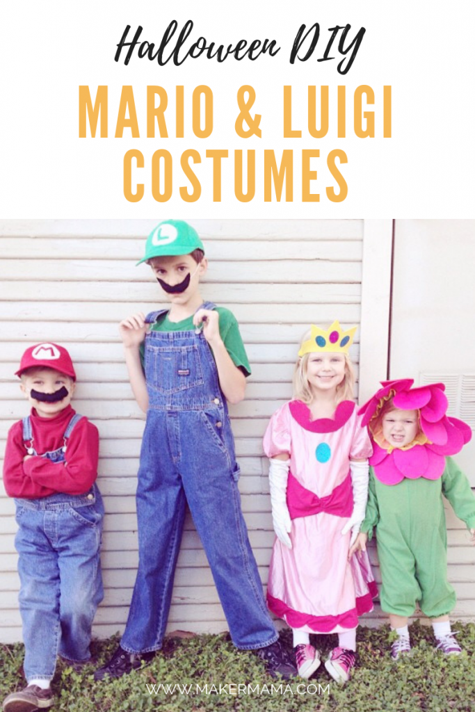 mario and luigi costumes kids