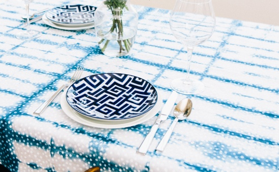 dyed-tablecloth