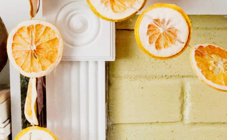 DIY Dried Citrus Orange Garland