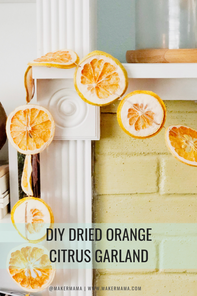 DIY Dried Citrus Orange Garland