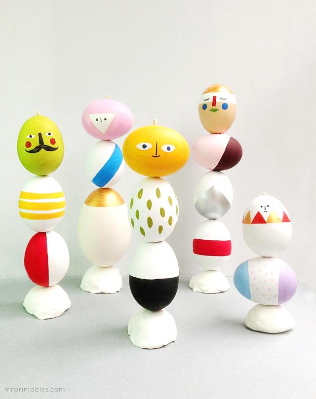 easter-craft-egg-decoration-mix-match-sculptures