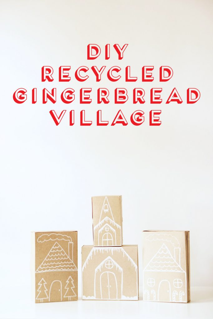 diy-recycled-gingerbread-village