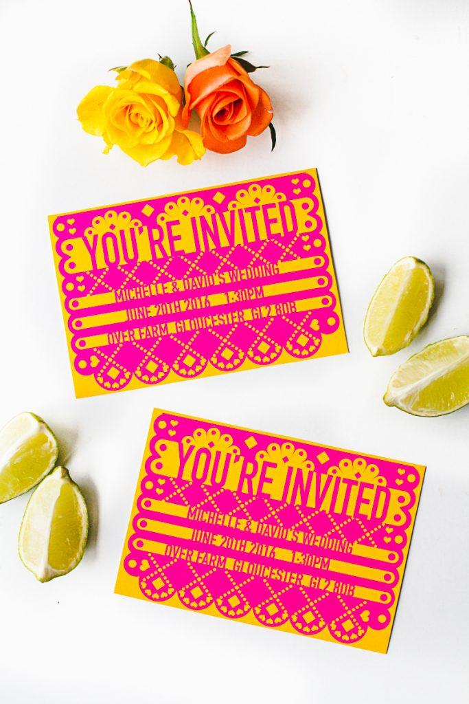 graphic regarding Papel Picado Printable called Absolutely free-Printable-Papel-Picado-Mexican-Marriage ceremony-Invites