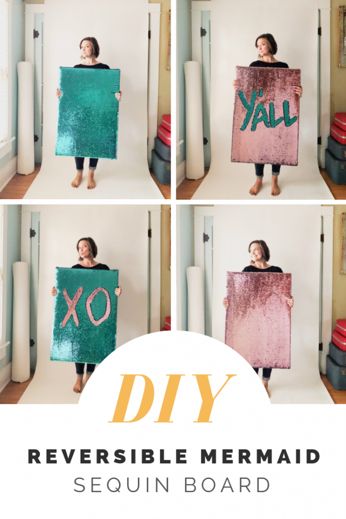 3feca4c55c0434 DIY Reversible Sequin Fabric Board - Maker Mama