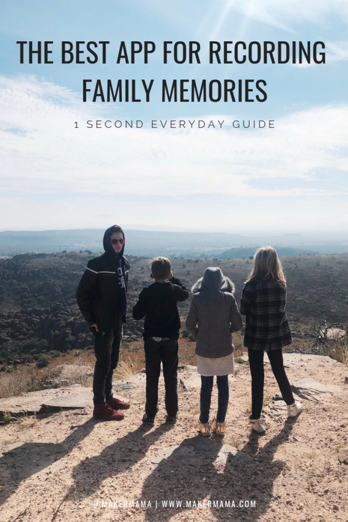 Record Family Memories with Cesar Kuriyama's 1 Second Everyday App | Maker Mama