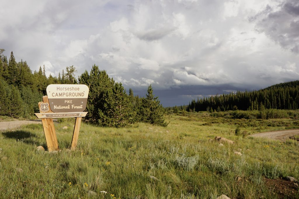 horseshoe-campground-pike-national-forest-colorado-sign