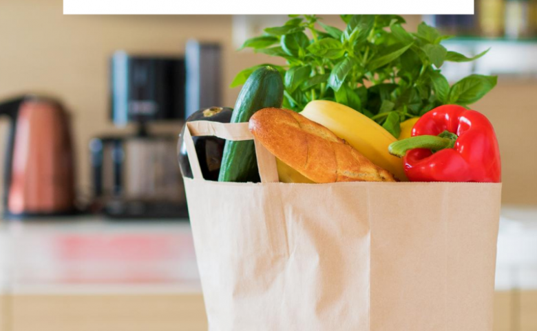 """bag of groceries on counter, caption reads """"10 things to know about using Shipt for grocery delivery"""""""